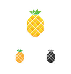 Pineapple logo template fruit logotype vector