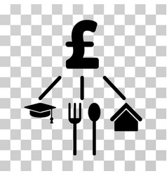 Pound consumption pattern icon vector