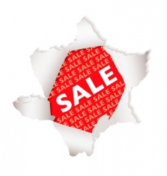 sale paper explode vector image