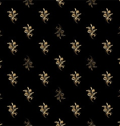 seamless pattern of gold vector image vector image