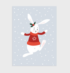 traditional christmas new year greeting card vector image vector image