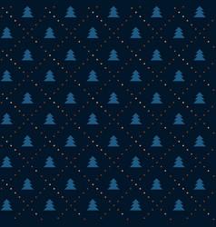 vintage elegant xmas tree seamless pattern vector image vector image