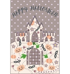 Happy halloween card vintage vector