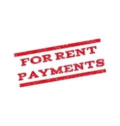 For rent payments watermark stamp vector