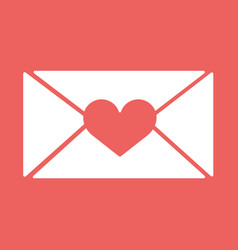 e-mail envelop icons with heart wax pressfor vector image