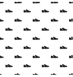 soccer shoe pattern vector image