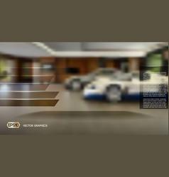 Blurred interior background vector