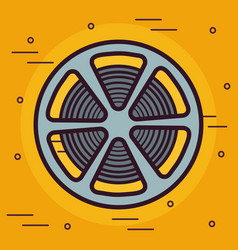 Reel tape icon vector