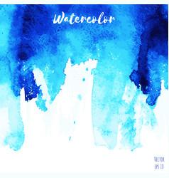 blue indigo watercolor texture background vector image