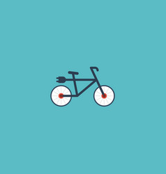 Flat icon electric bike element vector