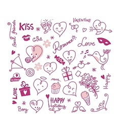 Valentine cute elements vector
