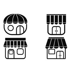 black store icons vector image