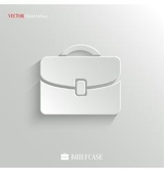 Briefcase icon - web background vector image