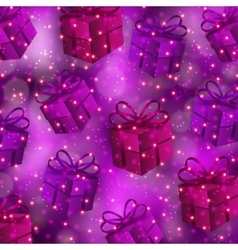 Festive background with gifts bokeh vector