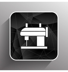Sewing machine icon raft embroidery tool clothes vector