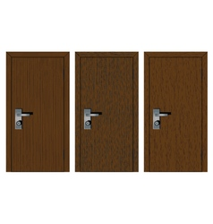 Wooden doors with different texture vector
