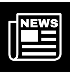 The news icon newspaper symbol flat vector