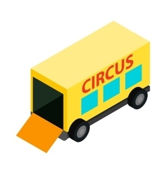 Circus trailer isometric 3d icon vector