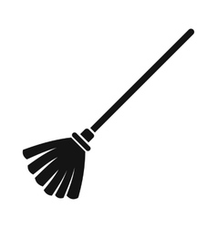 Broom black simple icon vector