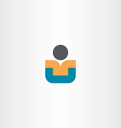 Child sitting icon design vector