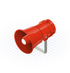 Isometric loudspeaker alarm horn sounder a safety vector