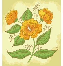Abstract orange flower vector