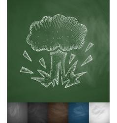 explosion icon vector image