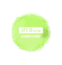 Green watercolor stain vector