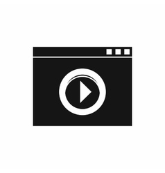 Video player icon simple style vector