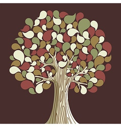 Abstract autumn time tree vector