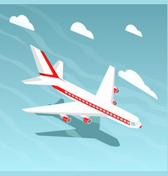 airplane isometric style vector image