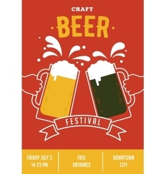 Beer festival event poster vector image vector image