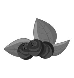 Blueberries icon gray monochrome style vector
