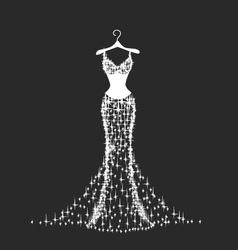 Brilliant wedding dress vector