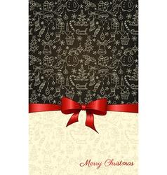 ChristmasBlackBambVS vector image vector image