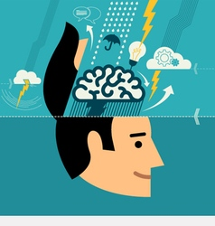 Concept for creative brainstorming process vector image vector image