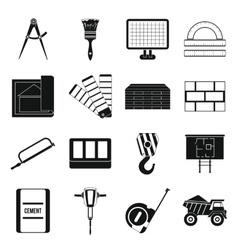 Construction icons set simple style vector image vector image