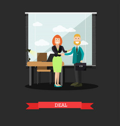 Deal concept in flat style vector