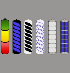 different variations of the battery charge image vector image