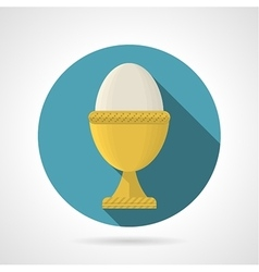 Flat color icon for boiled egg vector image