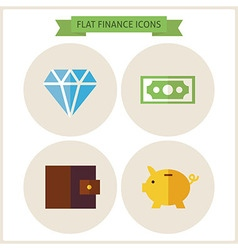 Flat Finance Website Icons Set vector image
