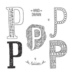 hand drawn alphabet vector image vector image