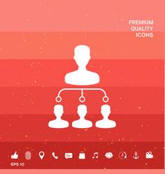 Hierarchy symbol icon vector