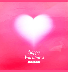 Pink texture background with glowing heart vector
