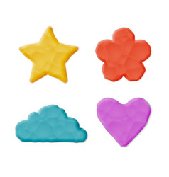 Plasticine clay shapes vector