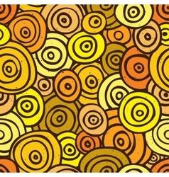 Pop art retro seamless pattern yellow vector