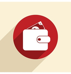 purse sign vector image