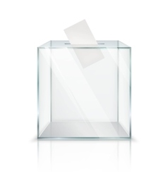 Realistic Ballot Box vector image