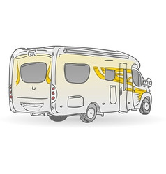 Recreational Vehicle vector image vector image