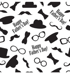 seamless pattern for father day vector image